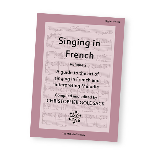 Singing in French Anthology